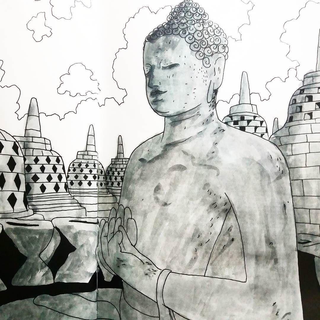 Borobudur Temple Drawing Tour & Outbound Borobudur