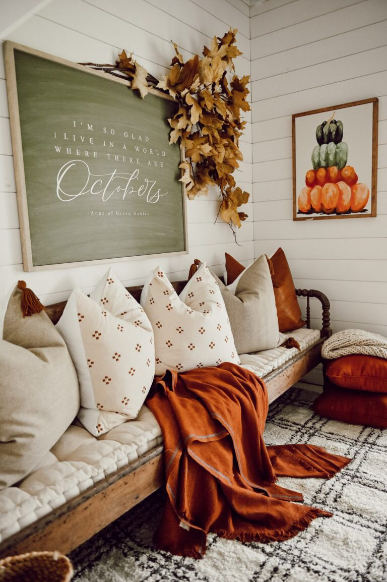 Cozy Fall Nook Under The Stairs Fall Decor Inspiration Fall Home Decor Autumn Home