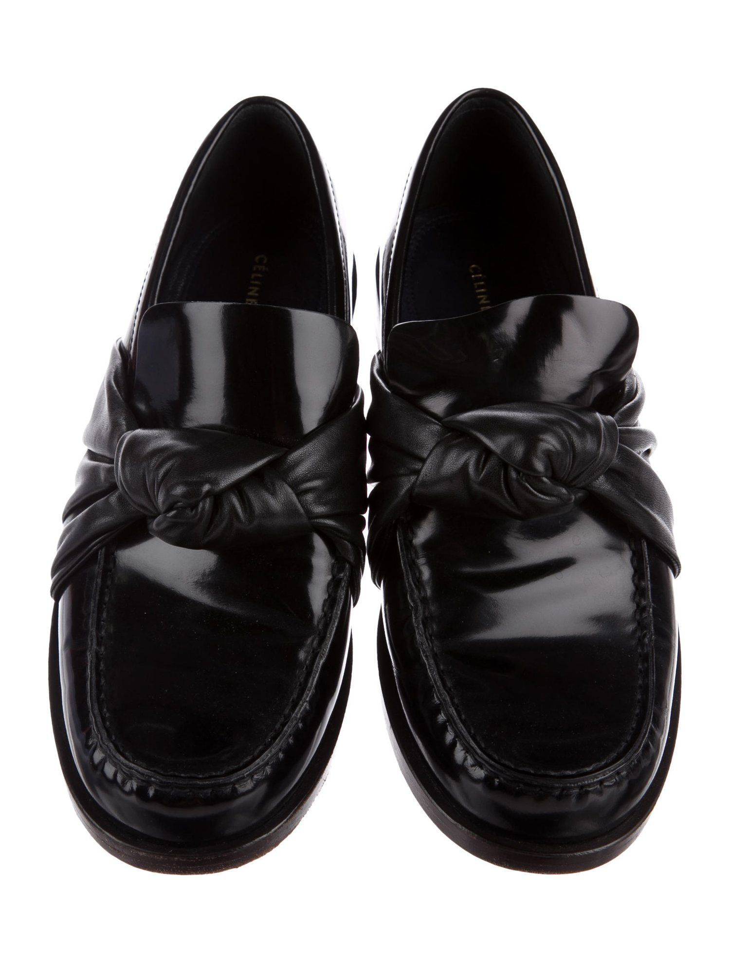 292f877c47e Céline Leather Knot Loafers - Shoes - CEL58846