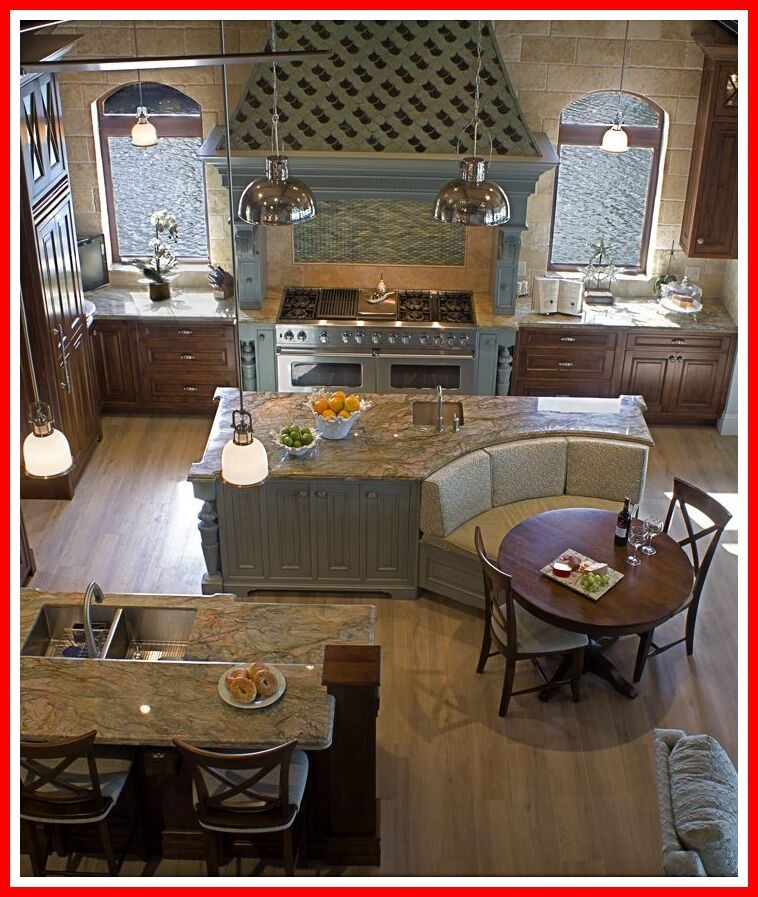 56 Reference Of Kitchen Island With Built In Bench Seating Diy Kitchen Remodel Kitchen Layout Kitchen Designs Layout