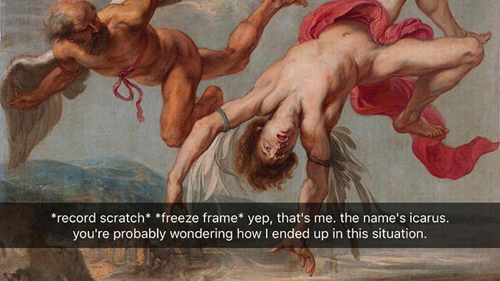 Snapchats from Greek Mythology | The SparkNotes Blog