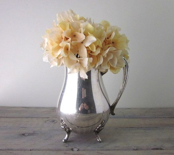 Vintage Silver Plate Pitcher Pilgrim Silver Co by 22BayRoad, $42.00