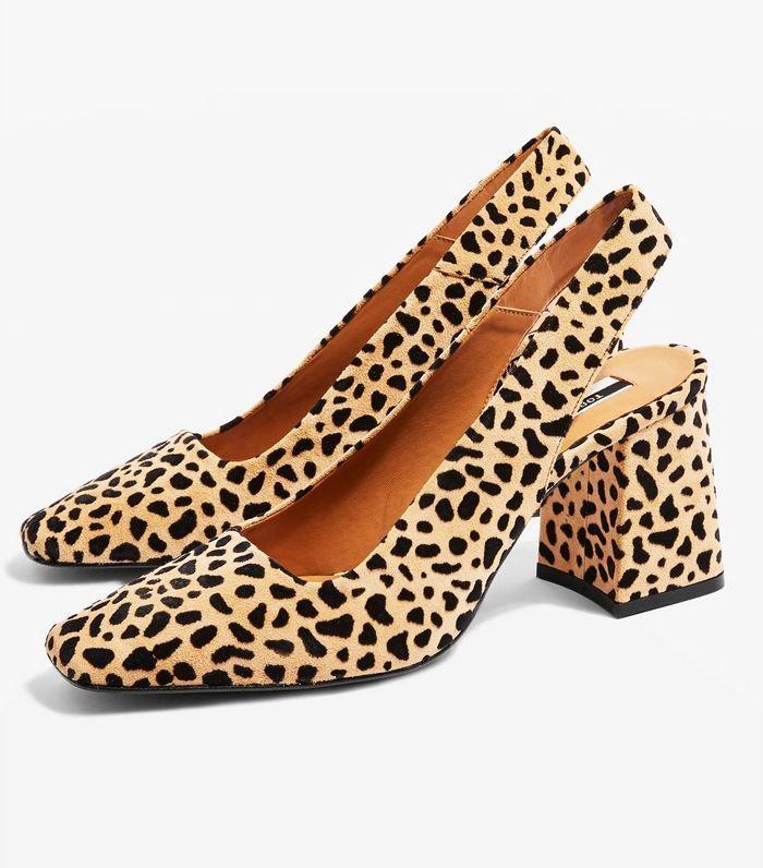 00a0bd3c2a5 Topshop Gainor Leopard-Print Slingback Shoes