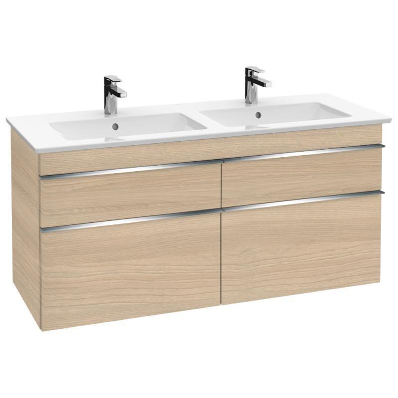 Villeroy Boch Venticello Doppel Waschtischunterschrank Xxl Mit 4 Auszugen Front Ulme Impresso Korpus Ulme I Waschtischunterschrank Schrank Doppelwaschtisch