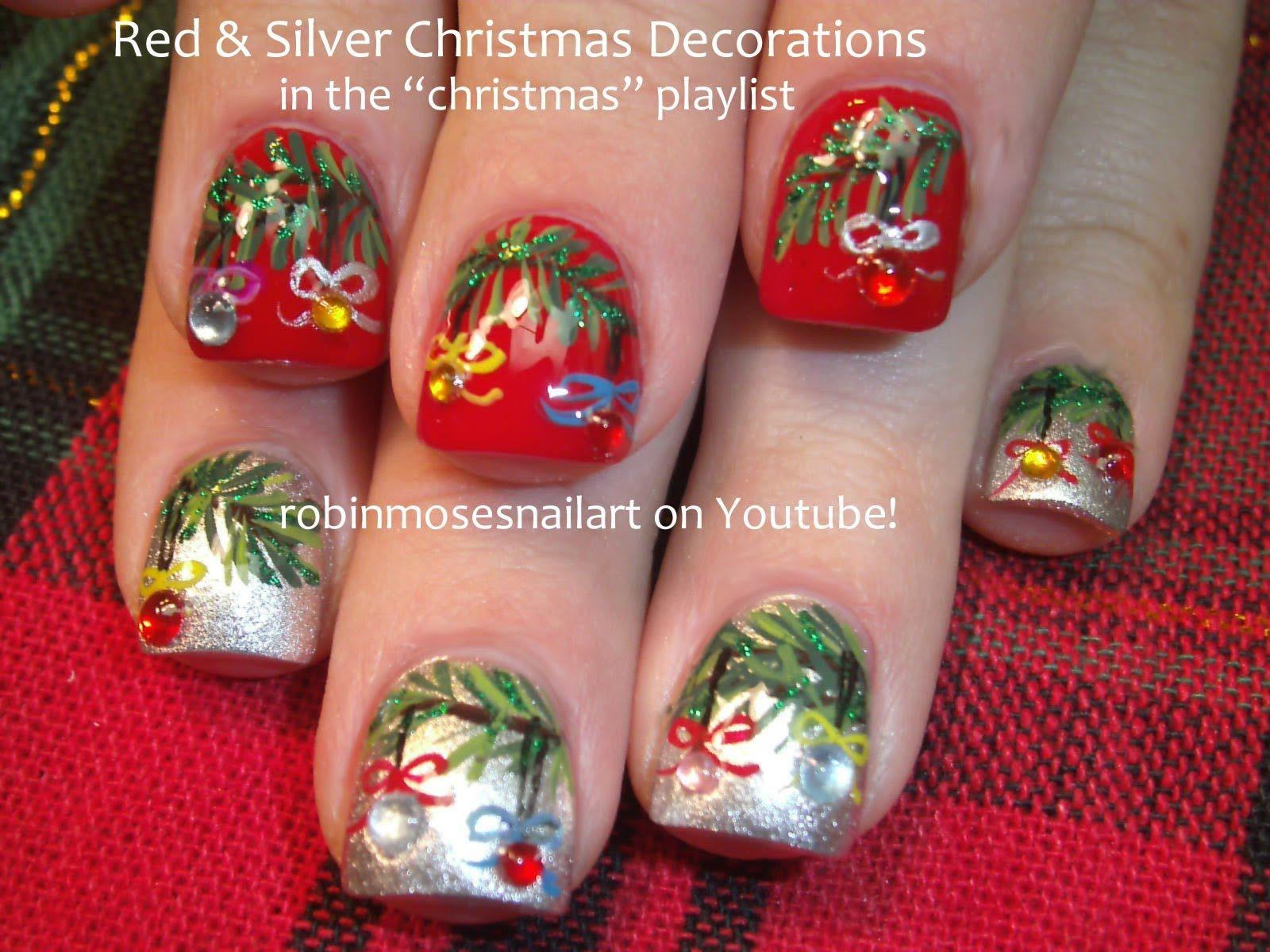 Christmas Nail Art Tutorials Are Here Easy Xmas Nail Art Design To