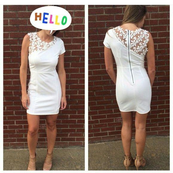 Fabrik white dress New worn lace white dress. Perfect for bridal shower, bachelorette, and rehearsal dinner. Dresses Midi