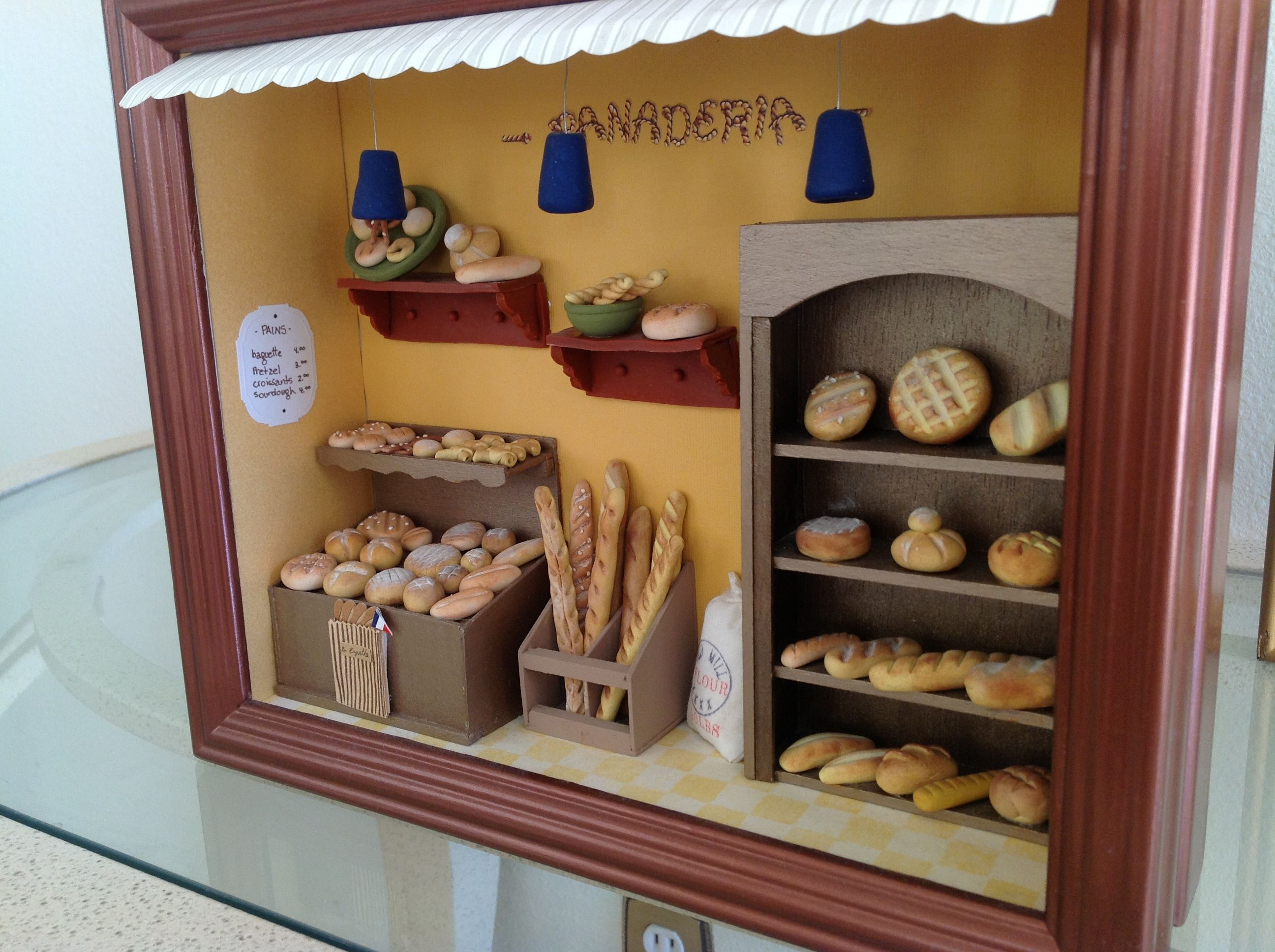 Wall Decor With Photos Pinterest : Bakery miniatures shadow boxes wall decor