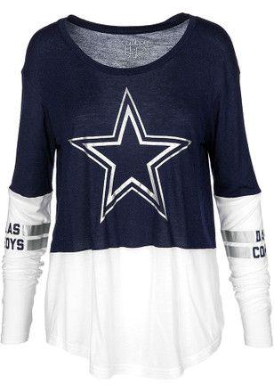 087d058a0 Dallas Cowboys Womens Navy Blue Audrey Women's Scoop   NFL - Dallas ...