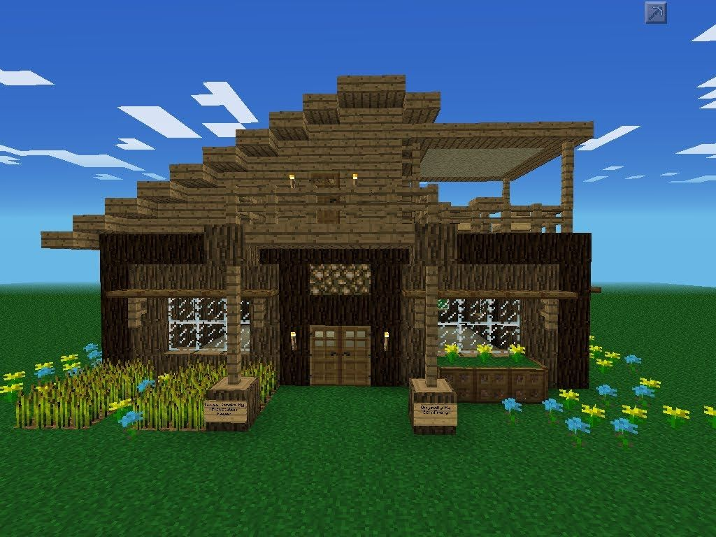 minecraft pocket edition small modern house Modern House