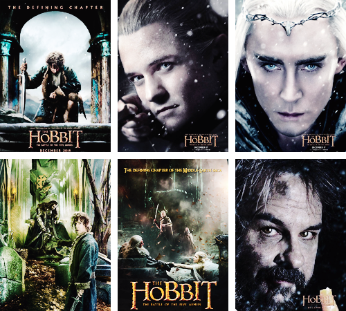 The Hobbit Trilogy Official Posters Collection | The ...