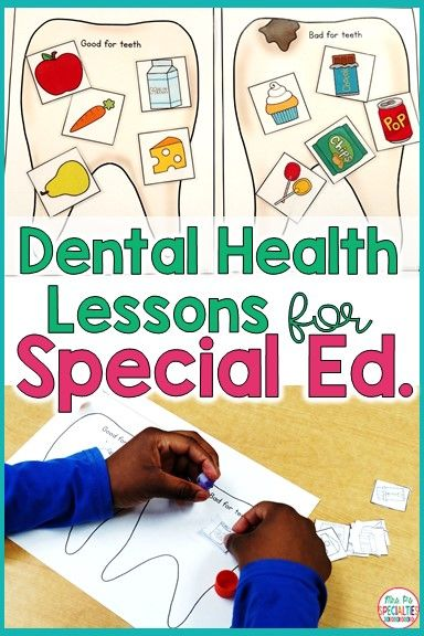 These hands on ideas for teaching about dental health will help students understand these vital life skills. Students will learn which foods are good and which foods are bad for our teeth and dental health. These ideas are ideal for special education classrooms, autism programs, life skills teachers, preschool, kindergarten and first grade.