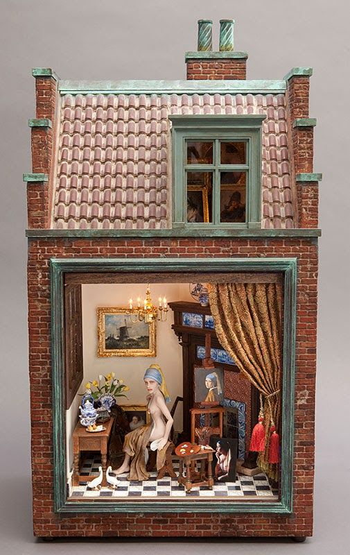 girl with a pearl earring art studio by michael puff mini shops cafes pinterest. Black Bedroom Furniture Sets. Home Design Ideas