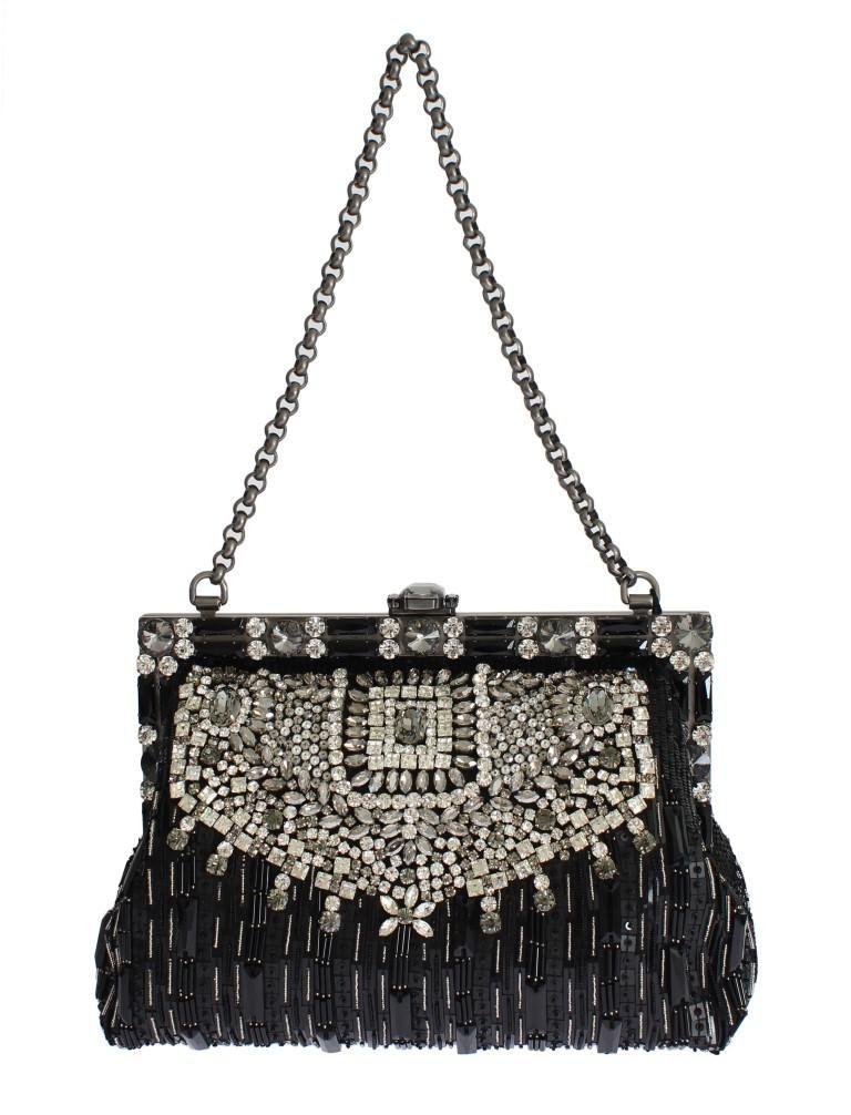 4b4e2bbdbd7 Crystal Embellished Black VANDA Clutch Bag - Your Wishlist   Dolce ...