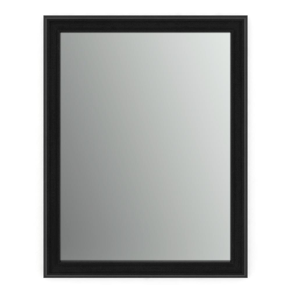 Delta 23 In W X 33 In H S2 Framed Rectangular Standard Glass Bathroom Vanity Mirror In Matte Black Fmirs2 Bsh R The Home Depot In 2021 Glass Bathroom Bathroom Vanity Mirror Mirror [ 1000 x 1000 Pixel ]