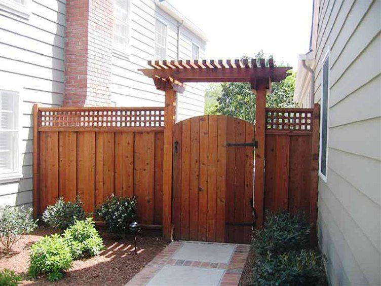 Wood Fence Gate Designs For Your Garden Plans Wood Fence Sliding Fence Gates Pinterest