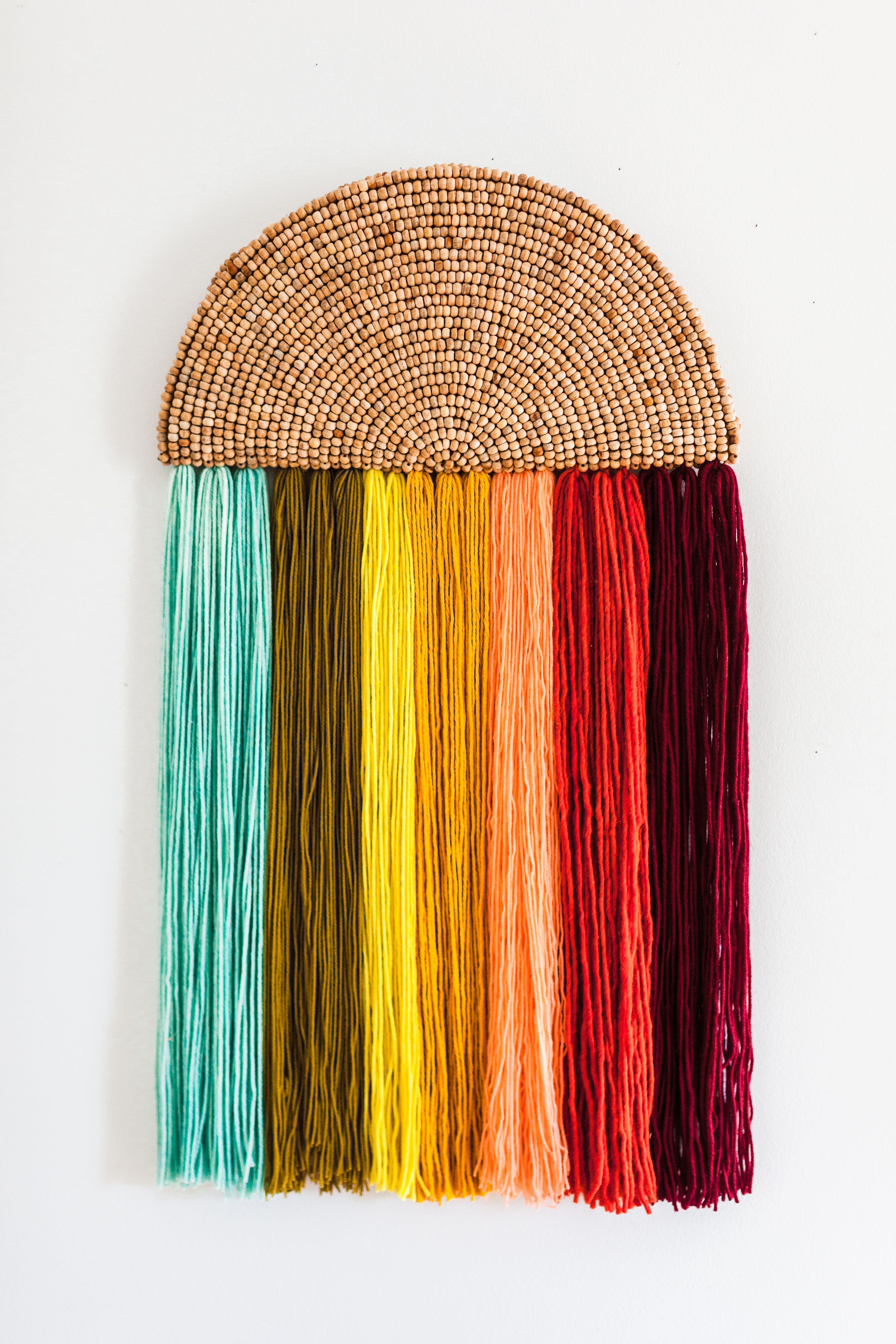 Easy yarn wall art diy diy u crafts pinterest yarn wall art