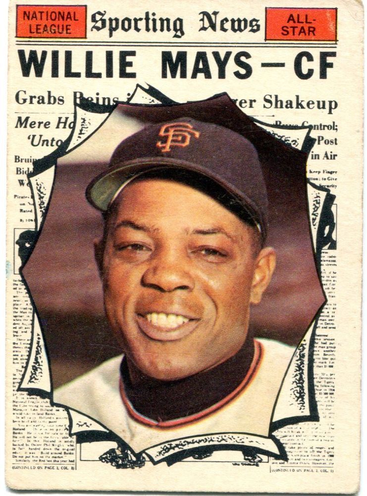 1961 topps 579 willie mays all star hi number hall of