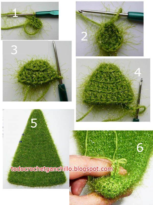 Cómo Hacer Un Árbol de Navidad Paso a Paso / Tutorial Crochet | Todo ...