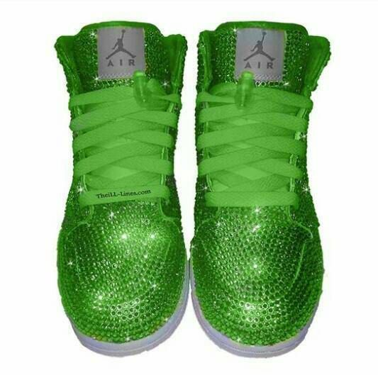 custom shoes nike swarovski nike shoes rhinestone shoes lime rh pinterest com