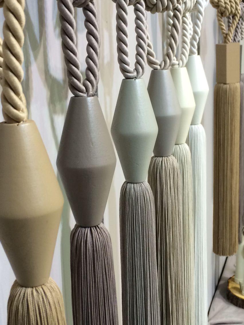 New collection Ikon Perde 2015 Natural series tiebacks matt string linen colors
