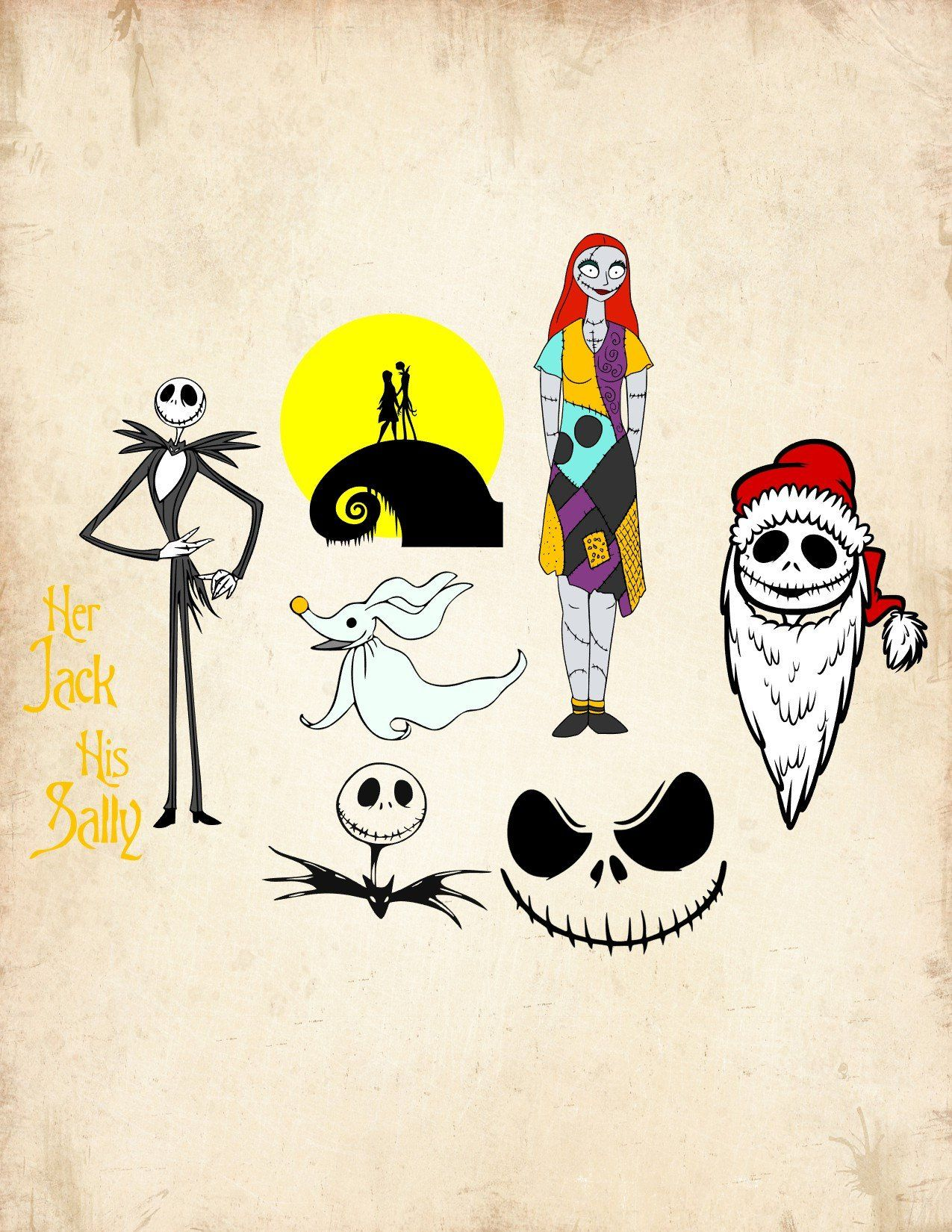 Nightmare before christmas svg, nightmare before christmas svg files ...