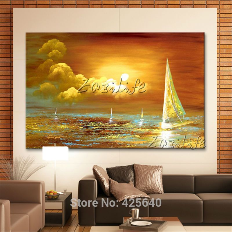 Brand-new arriving Hand painted canvas oil paintings Wall art ...