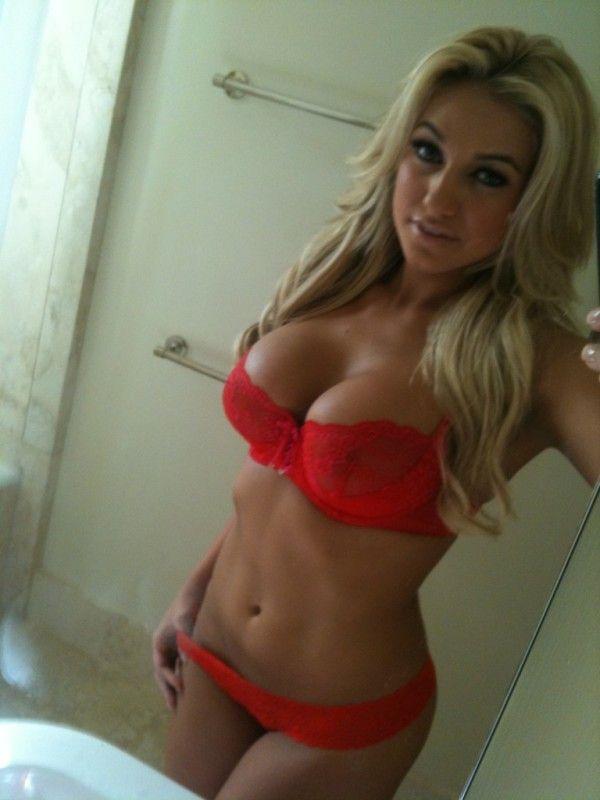 Blonde busty hot natural
