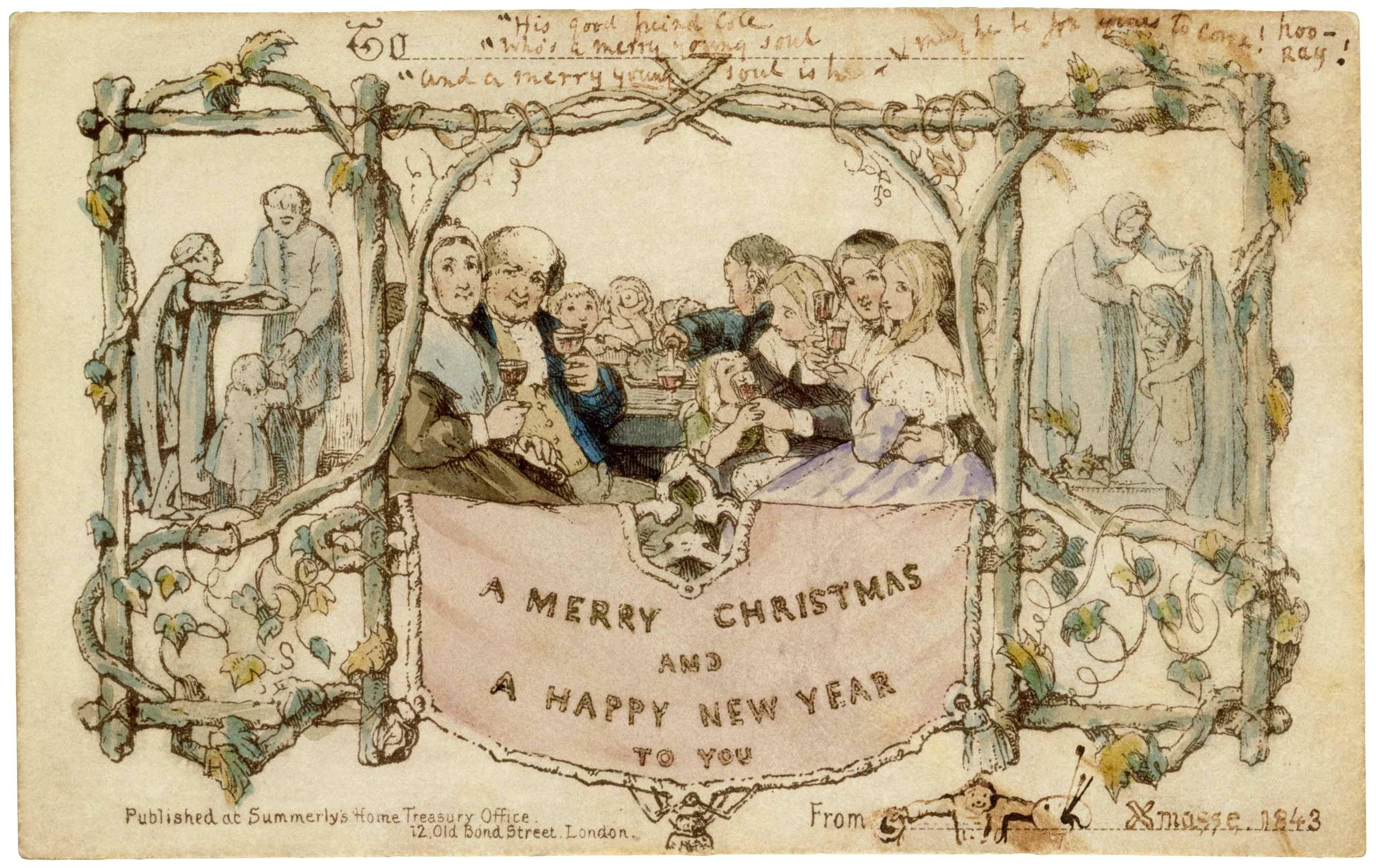 The first christmas card by artist john callcott horsley the first christmas card by artist john callcott horsley comissioned by john callcott horsley kristyandbryce Gallery