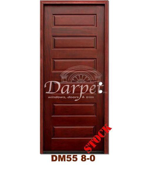 DM55 6 Panel Contemporary Exterior Wood Mahogany Door 8-0 | Darpet Interior Doors for