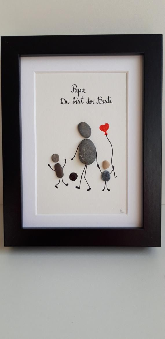 Father S Day Gift Dad Stone Picture Vatertag Geschenke