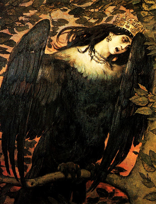 "unhistorical: "" Sirin and Alkonost—The Birds of Joy and Sorrow (1896), Viktor Vasnetsov """