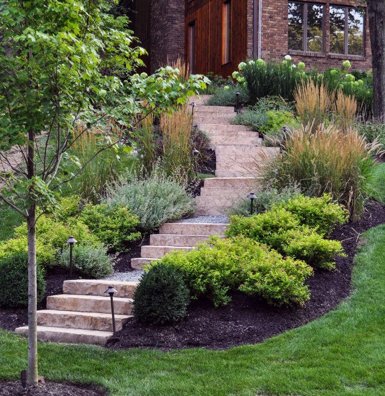 Sloping Garden Ideas And Optimal Solutions For Landscape: Before & After Landscaping Photos