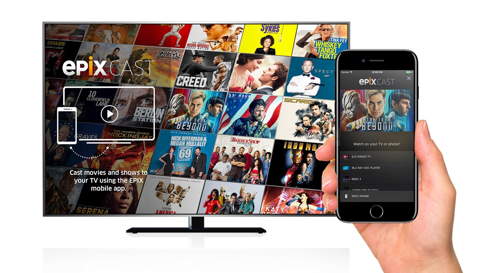 Epix's mobile app casts to smart TVs without a settop box