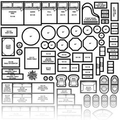 Printable Furniture Templates 1 4 Inch