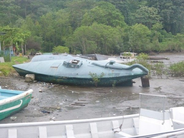 Drug running submarines