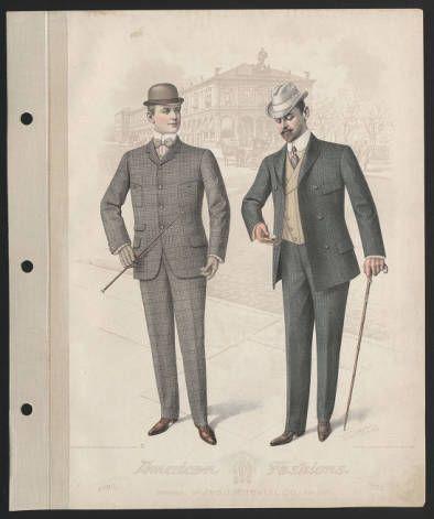 Moda masculina 1900