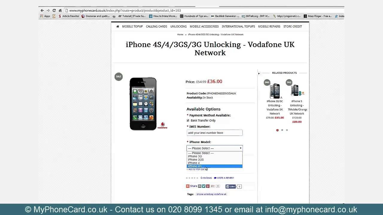 How to unlock iphone 5 from vodafone uk network unlock