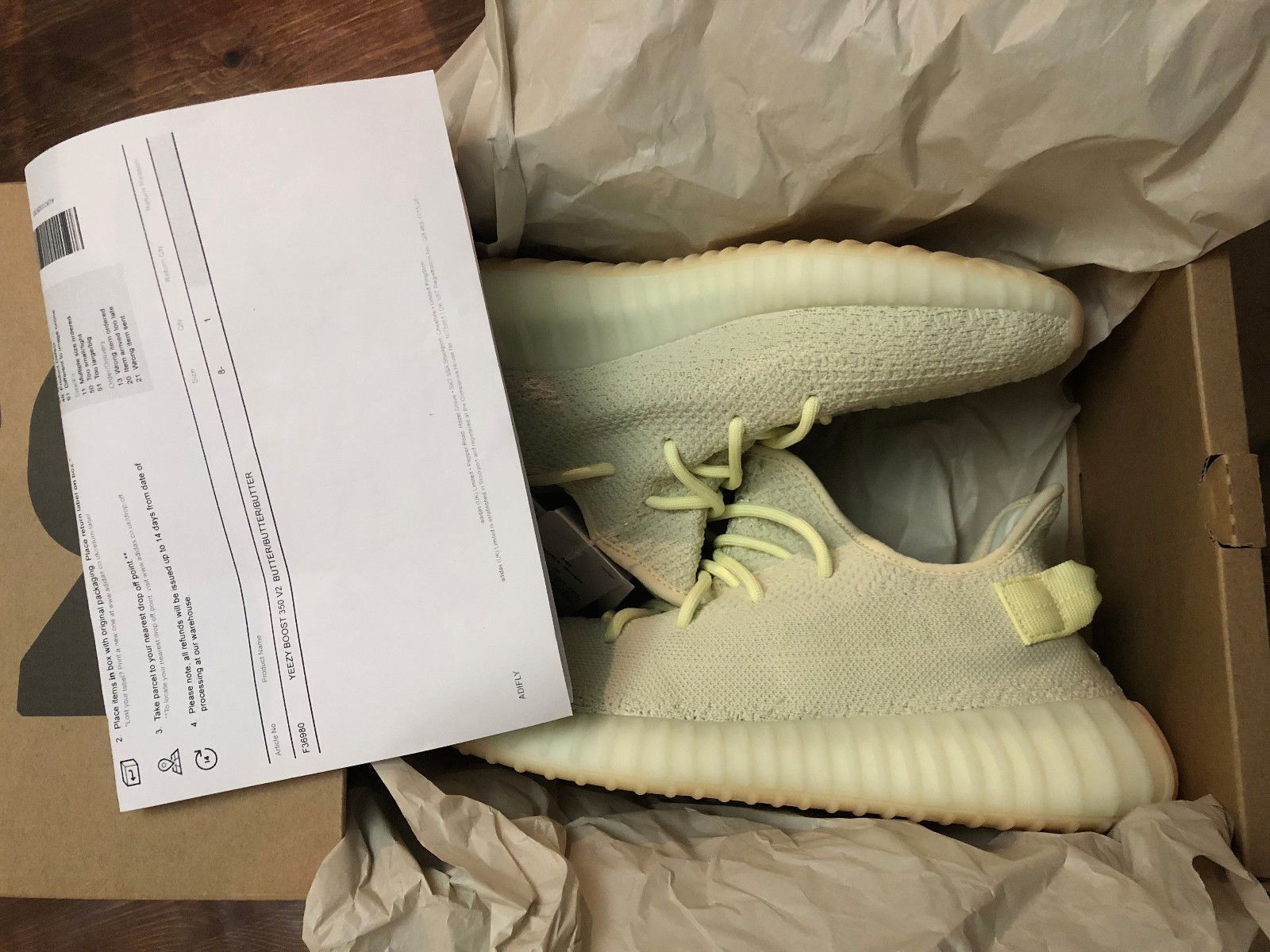 c203388ced5cc ADIDAS YEEZY BOOST 350 v2 BUTTER - UK 8.5 US9 42.5 F36980