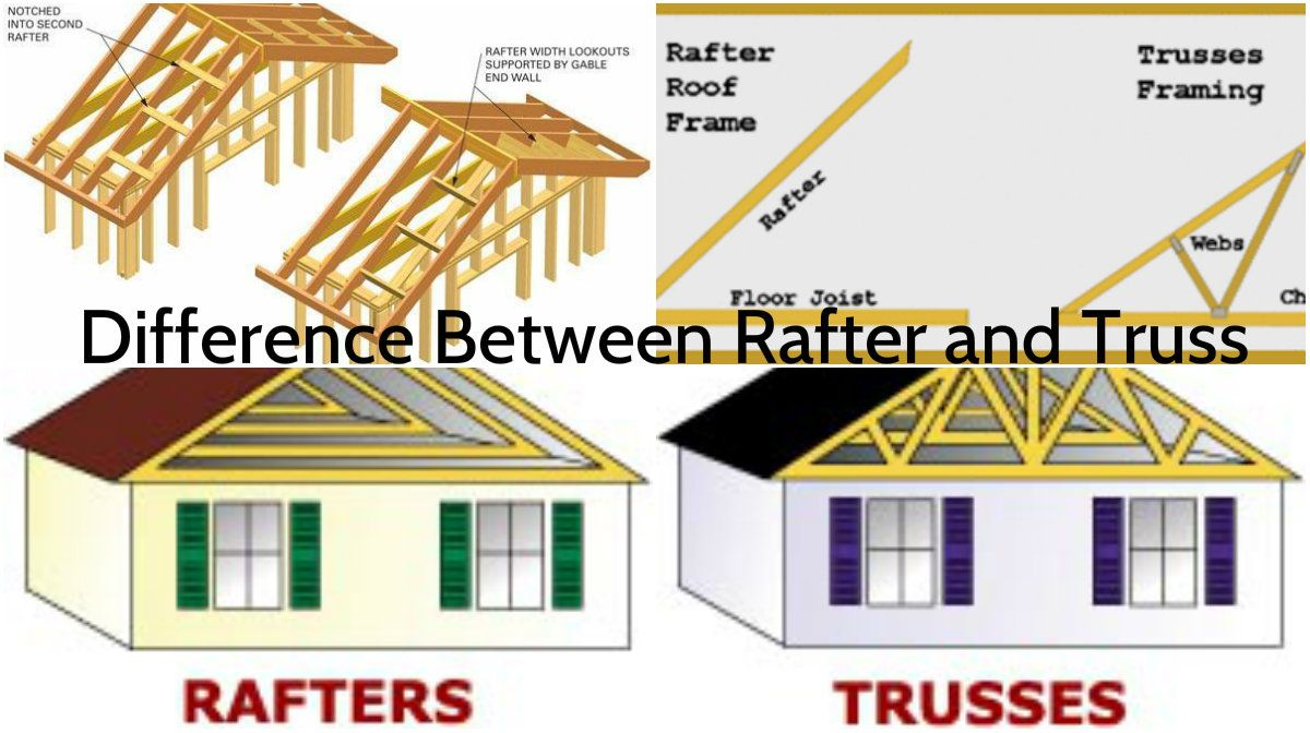 Rafters And Trusses Some Important Differences Architecture Admirers Rafter Roof Framing Architecture