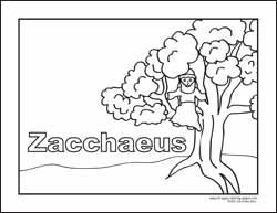 Coloring Pages Zaccheus Coloring Pages Bible Zacchaeus 01