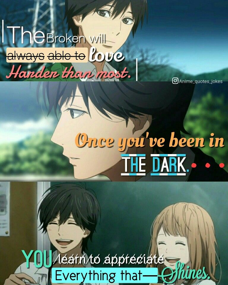 Orange anime Anime quotes Kakeru Best quotes Anime