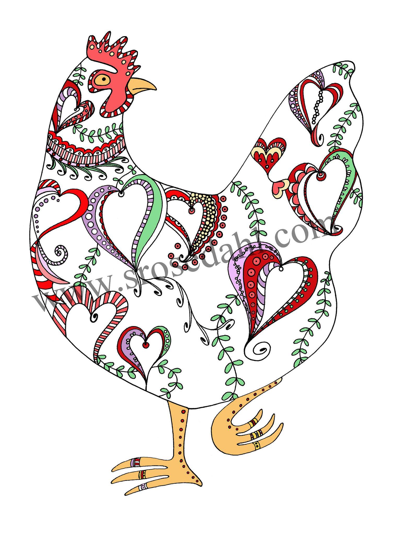 Sarah Rosedahl Chicken Art Art Arts And Crafts