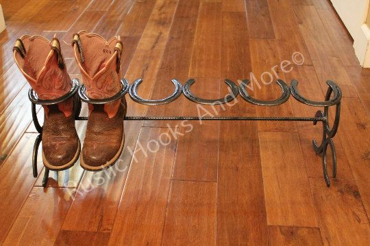916506b1e0a Horseshoe Boot Rack. Three Pair Boot Rack in 2019 | Art and crafts ...