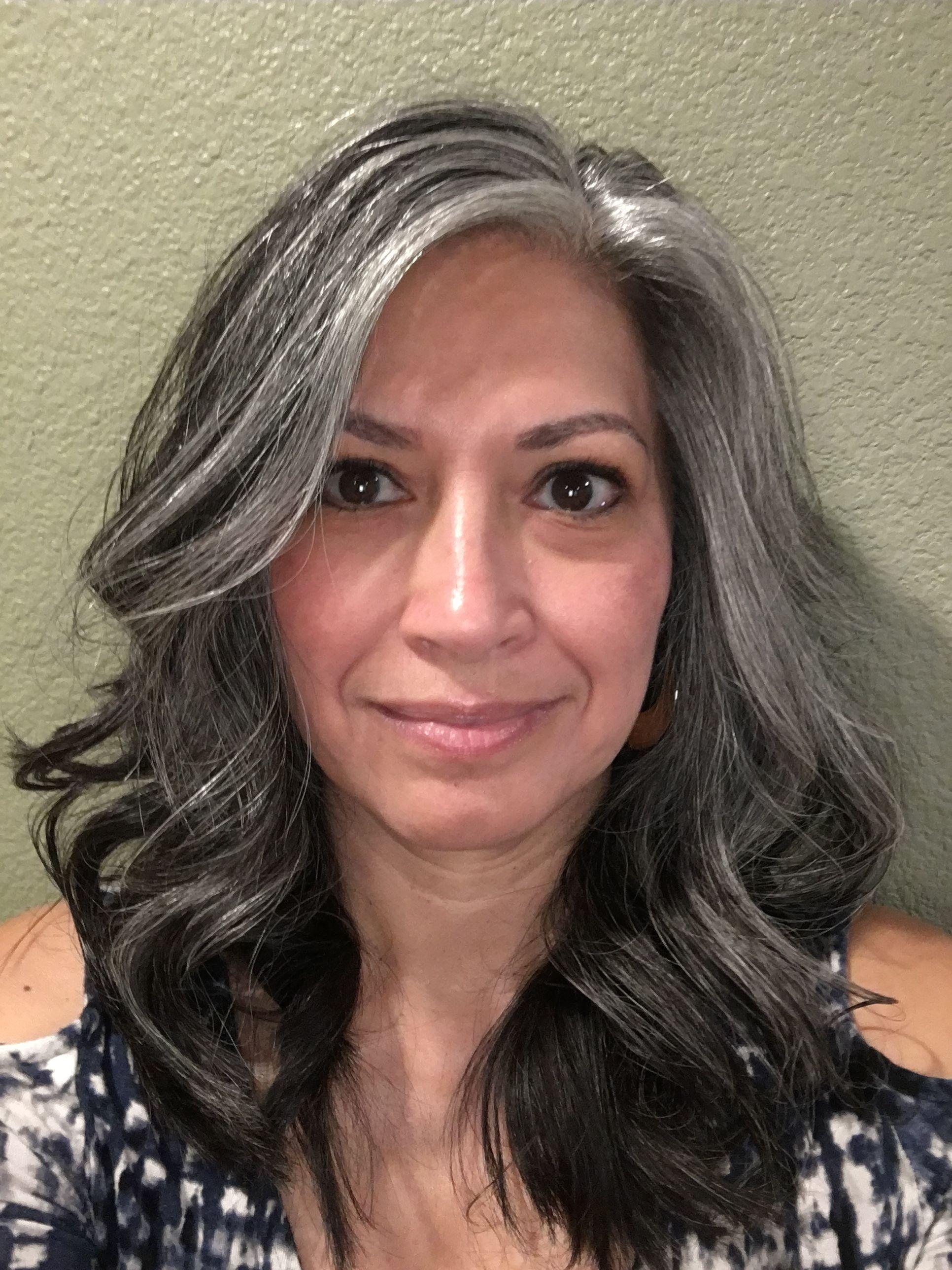 Beauty . . . | Gray hair growing out, Long gray hair, Grey ...