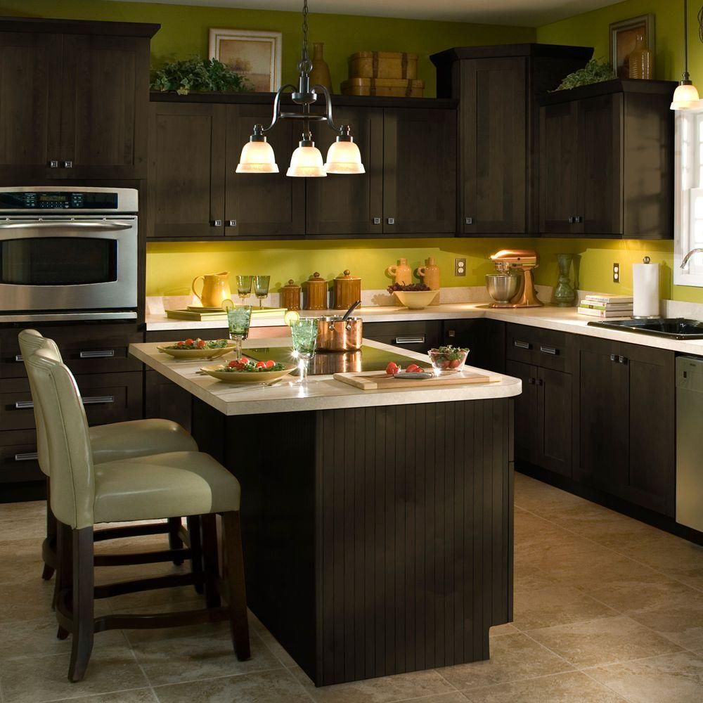Home Decorators Collection Franklin 12 3 4 X 0 3 4 In Cabinet Door Sample In Manganite Glaze Sd1313 Fmg The Home Depot Dark Brown Kitchen Cabinets Kitchen Home Decorators Collection