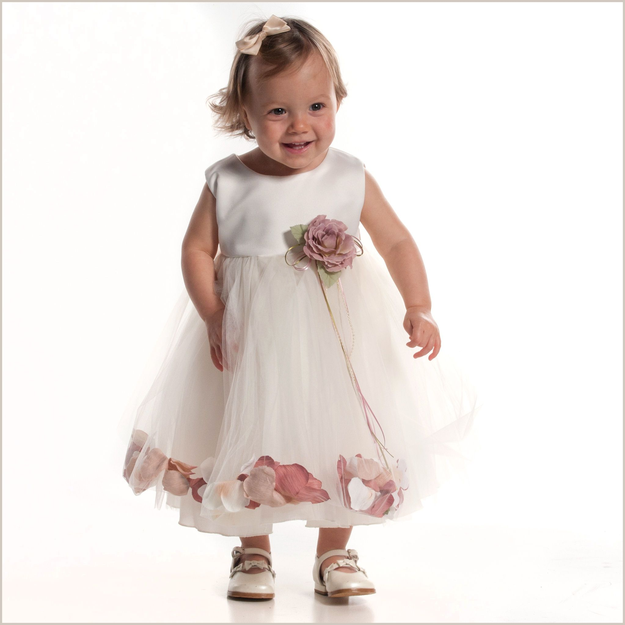 Petal dress in ivory and dusky pink flower girl pinterest petal dress in ivory and dusky pink baby flower girl mightylinksfo