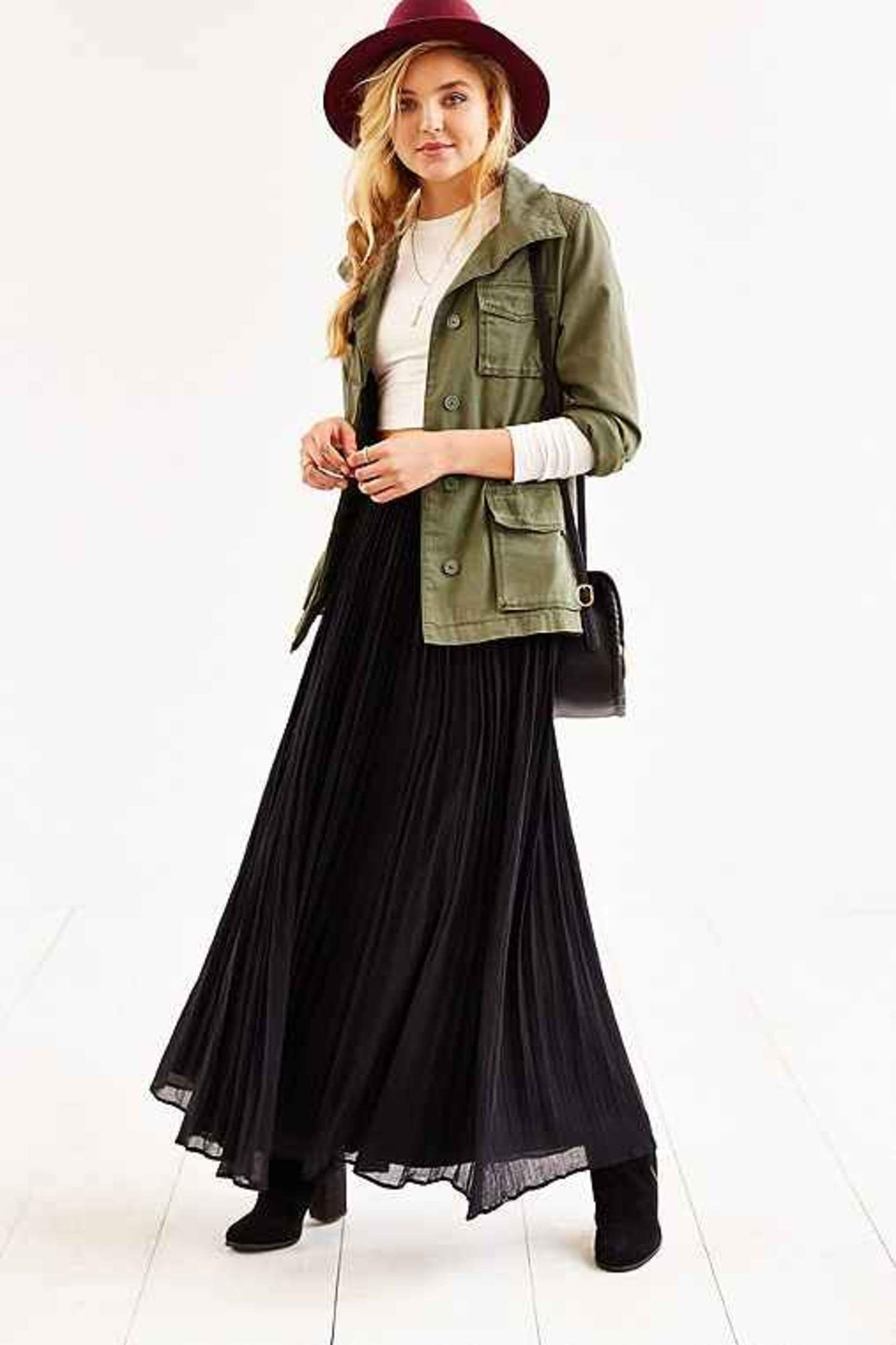 c810f55ce Pins And Needles Gauzy Pleated Maxi Skirt- | Fashion in 2019 | Maxi ...