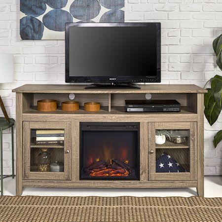 58 Inch Wood Highboy Fireplace Tv Stand For Tvs Up To 60 Inch