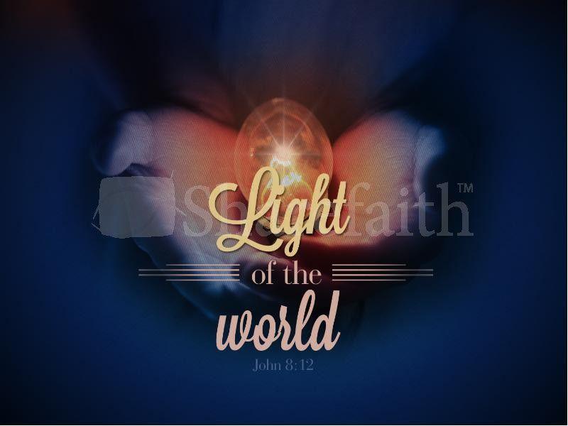 Light Of The World Christmas PowerPoint Sermon Template Jesus is - christmas powerpoint template