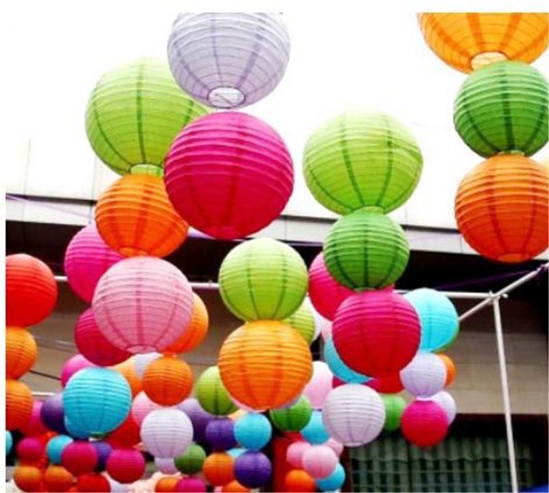 10Pcs 30cm Round Chinese Paper Lantern Birthday Lanterns For Wedding Party Decoration Gift Craft DIY